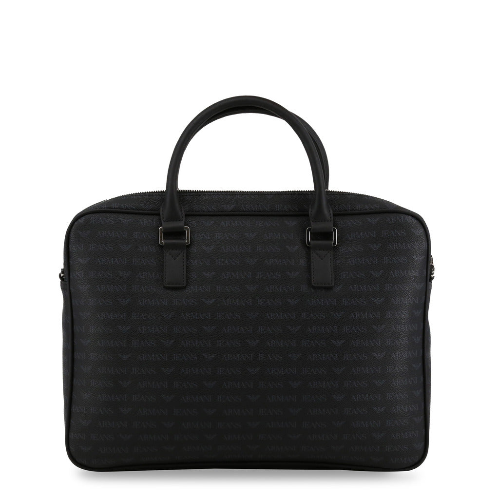 Armani Jeans Briefcase Logo Print Black - 932530_CD996 - Moda Designer Boutique