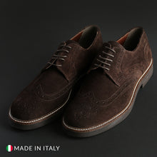 Load image into Gallery viewer, Madrid Men's Lace Up Shoes Suede - 606_CAMOSCIO - Moda Designer Boutique