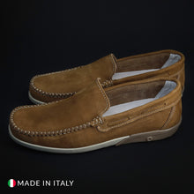 Load image into Gallery viewer, Morbidone Men's Loafers Moccasins Leather - 5668_NABUK - Moda Designer Boutique