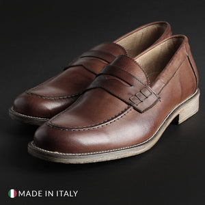 SB 3012 Men's Loafers Moccasins Leather - S1_CRUST - Moda Designer Boutique