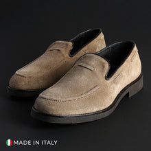 Load image into Gallery viewer, Off-box Men's Loafers Moccasins Suede - 1380_CAMOSCIO - Moda Designer Boutique
