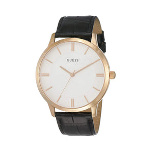 Guess W0664 Men's Watch Stainless Steel Leather Strap - Moda Designer Boutique