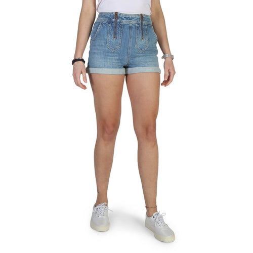 Tommy Hilfiger Womens' Shorts Blue - WW0WW18344 - Moda Designer Boutique