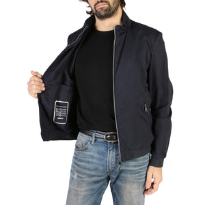Geox Men's Jacket Blue Nights Cotton Front Zip Logo - M8221XT2468 - Moda Designer Boutique