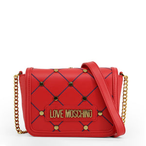 Love Moschino Crossbody Bag Chain Strap Logo - JC4099PP1ALP - Moda Designer Boutique