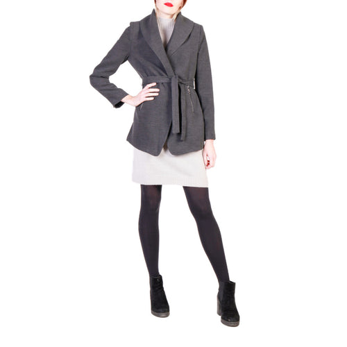Fontana 2.0 NOVELLA Coat Belted Antracite Gray - Moda Designer Boutique