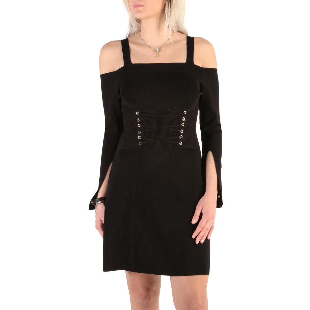 Guess Dress Long Sleeve Cold Shoulder Black - 82G750_5418Z - Moda Designer Boutique