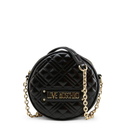 Love Moschino Crossbody Bag Quilted Chain Strap Logo - JC4003PP1BLA