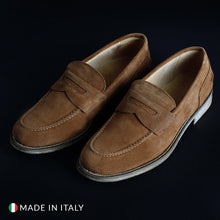 Load image into Gallery viewer, SB 3012 Men's Loafers Moccasins Suede - 1000_CAMOSCIO - Moda Designer Boutique