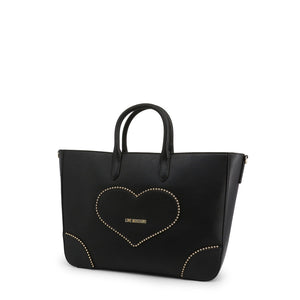 Love Moschino Shopping Bag Studded Logo Heart With Pochette - JC4247PP08KG - Moda Designer Boutique