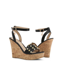 Load image into Gallery viewer, Laura Biagiotti 6051 Wedges Studded Ankle Strap - Moda Designer Boutique