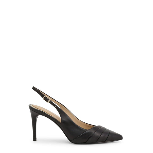 Guess 'Balise' Courts Pumps Leather Ankle Strap Black - FL6ISE_LEA05_BALISE - Moda Designer Boutique