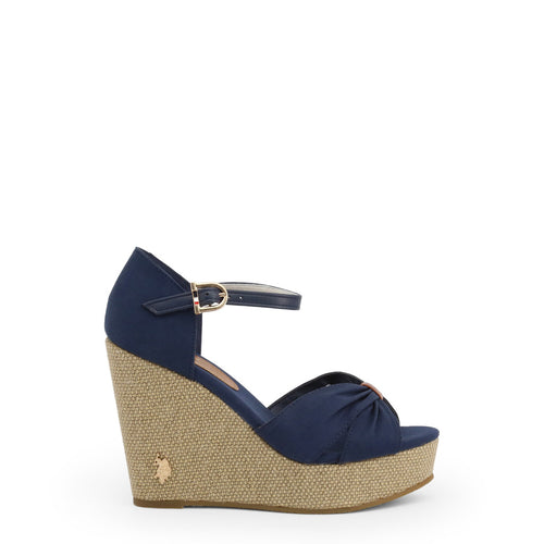 U.S. Polo Assn. Wedges Ankle Strap Blue - AYLIN4171S0_CY1 - Moda Designer Boutique