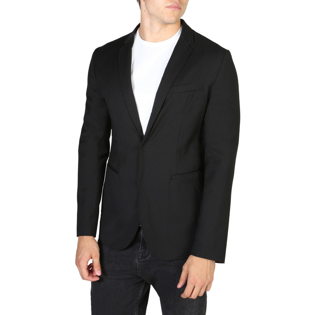 Emporio Armani Men's Blazer Formal Jacket - V1G620V1201 - Moda Designer Boutique