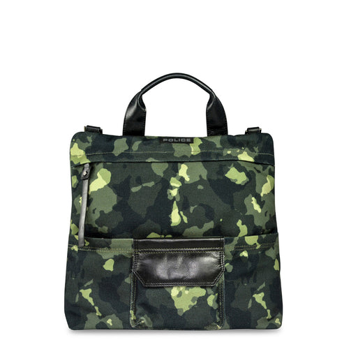 Police PT032012 Men's Briefcase Green Camouflage - Moda Designer Boutique