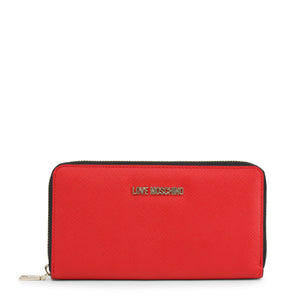 Love Moschino Women's Wallet Zip Around Logo - JC5552PP06LQ - Moda Designer Boutique