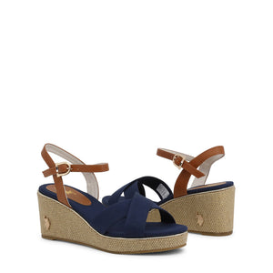 U.S. Polo Assn. Agata Women's Wedge Ankle Strap - AGATA4088S0_CY1 - Moda Designer Boutique
