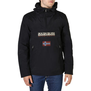 Napapijri RAINFOREST_NP0A4ECO Men's Jacket Hooded Logo - Moda Designer Boutique