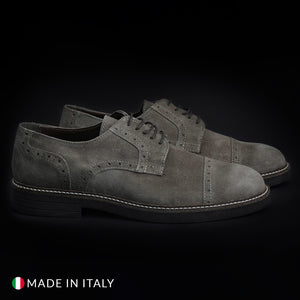 Madrid Men's Lace Up Shoes Suede - 607_CAMOSCIO - Moda Designer Boutique