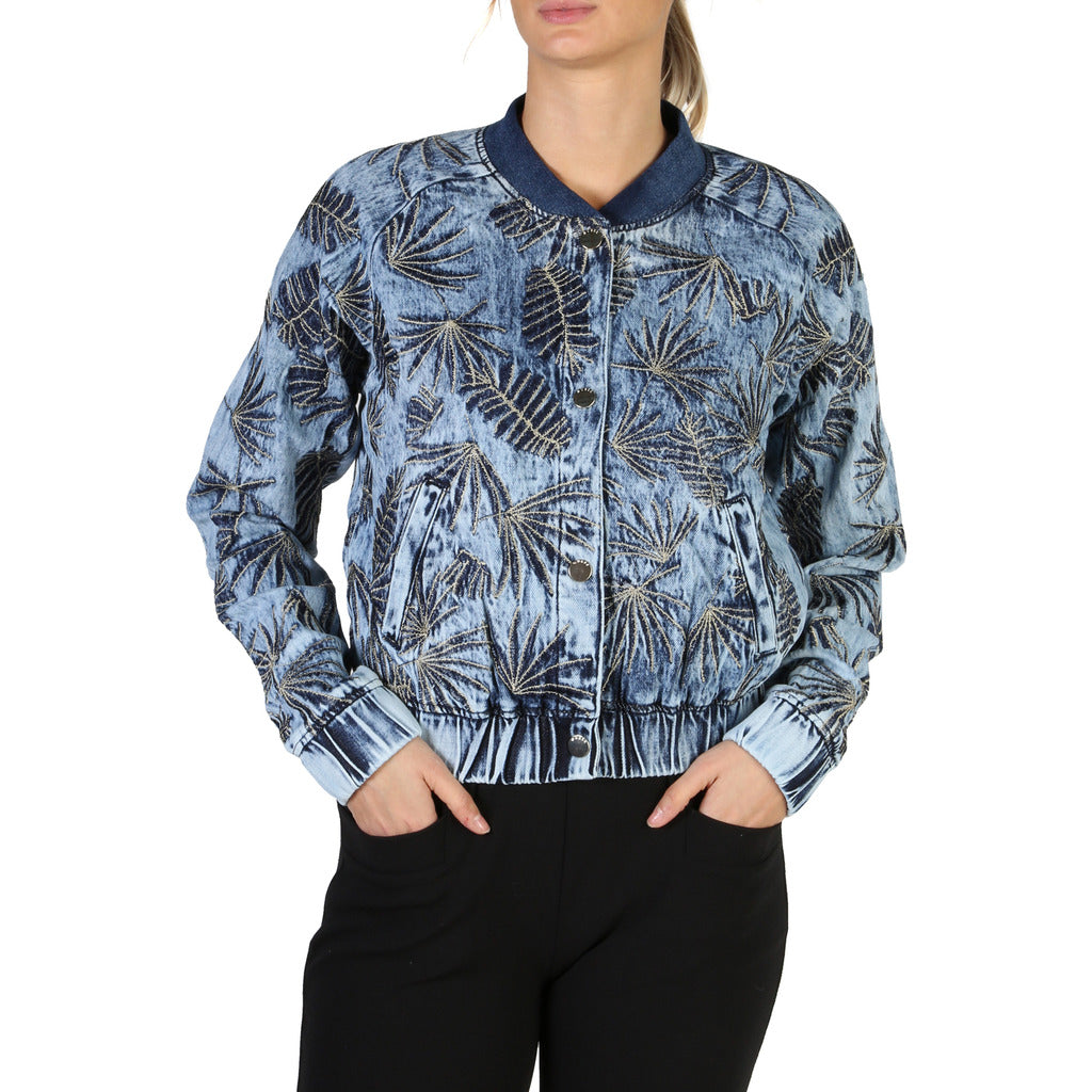 Guess W82N56 Womens Bomber Jacket Floral Print - Moda Designer Boutique
