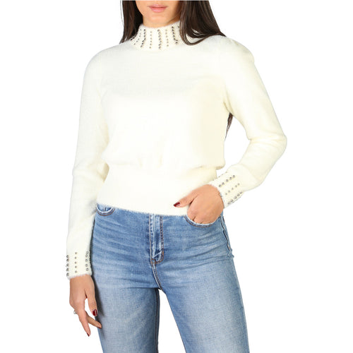 Yes Zee Women's Sweater Turtleneck Studded Logo - 1665_M055_IS00
