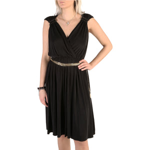 Guess Dress Sleeveless V-Neck Black - 72G743_6509Z - Moda Designer Boutique