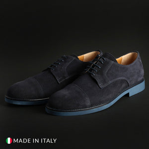 Madrid Men's Lace Up Shoes Suede - 605_CAMOSCIO - Moda Designer Boutique