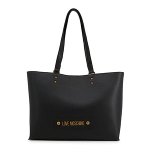 Love Moschino Shopping Bag Tote Removable Pochette Logo - JC4024PP1ALD - Moda Designer Boutique