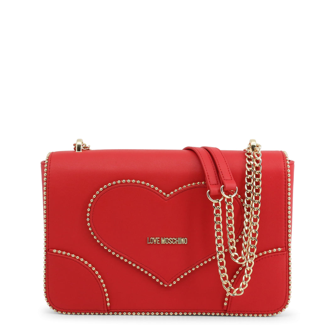 Love Moschino Shoulder Bag Studded Chain Strap Logo - JC4243PP08KG - Moda Designer Boutique