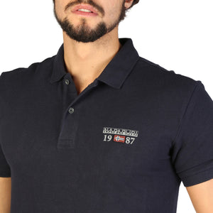 Napapijri N0YILY Men's Polo Shirt Short Sleeve Logo - Moda Designer Boutique