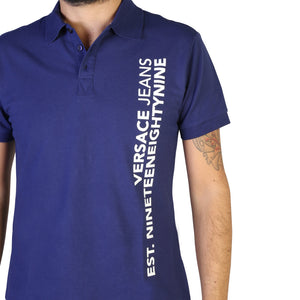 Versace Jeans Men's Polo Shirt Short Sleeve Logo Print - B3GTB7P6_36571 - Moda Designer Boutique