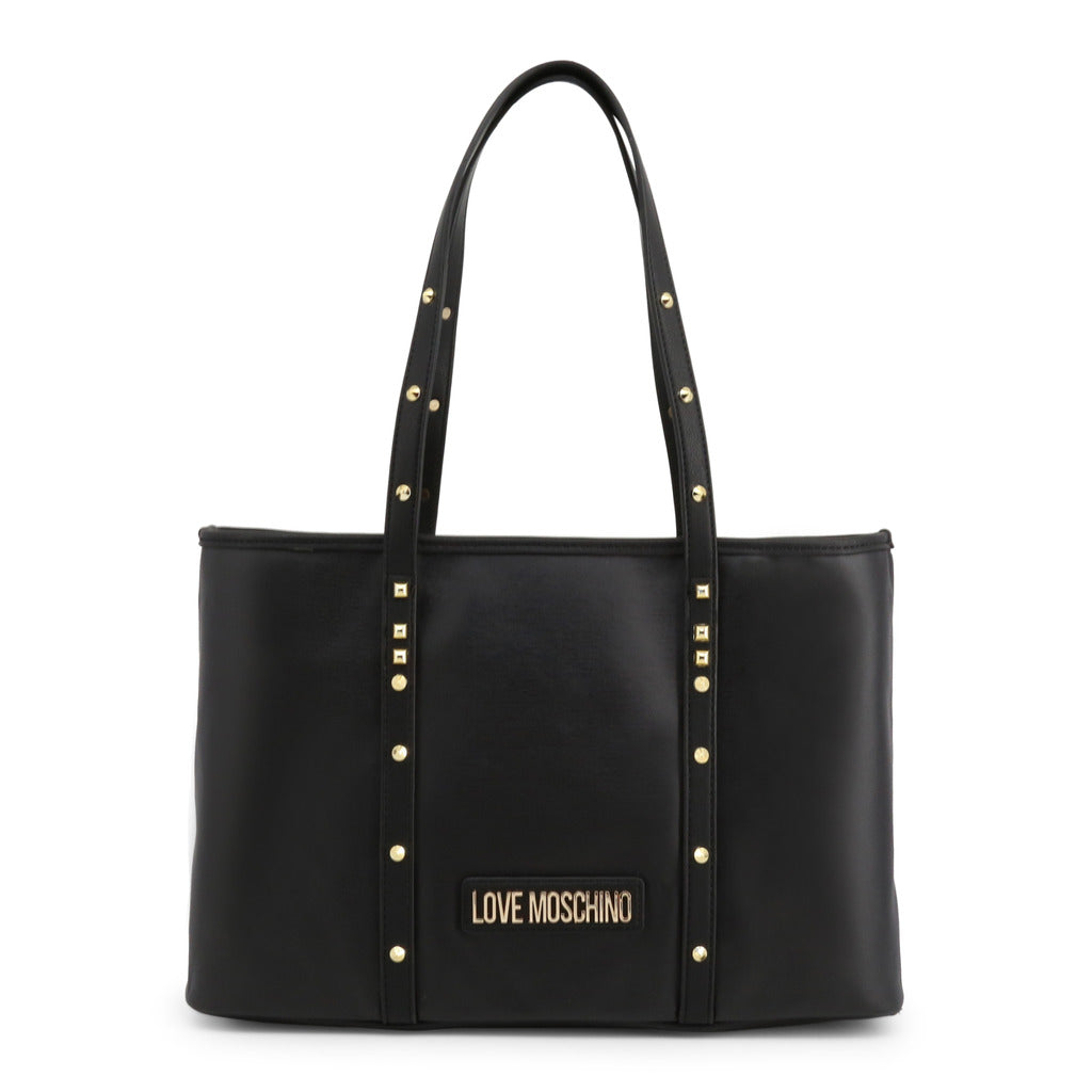 Love Moschino Shopping Bag Tote Studded Black - JC4083PP1ALL - Moda Designer Boutique