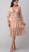 Load image into Gallery viewer, Flower pink smocking dress