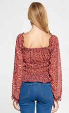 Load image into Gallery viewer, Monic Floral Print Long Sleeve Top