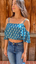Load image into Gallery viewer, Copy of Copy of Cold shoulder crop top boho print