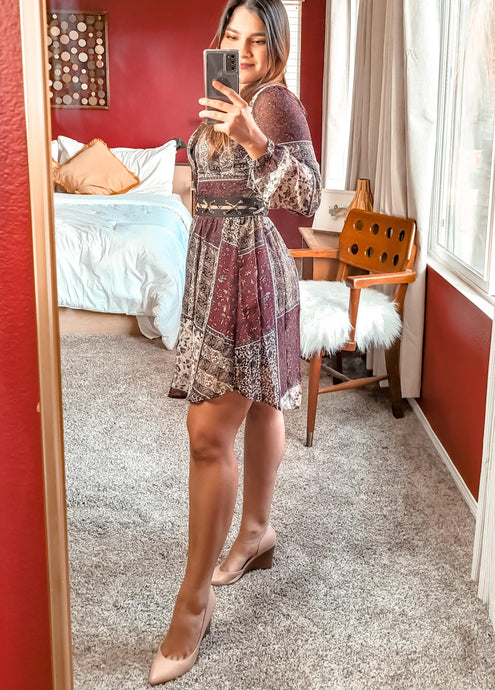 Ethnic print mini dress - THE SUNDAY DRESS