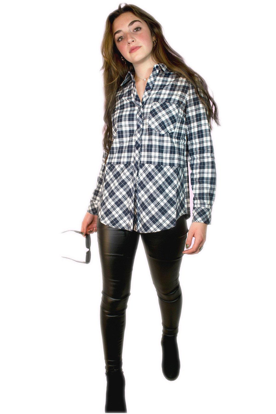 Plaid Long Sleeve Button Down Shirt - THE SUNDAY DRESS