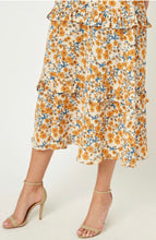 Load image into Gallery viewer, Floral ruffle midi dress
