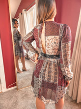 Load image into Gallery viewer, Ethnic print mini dress - THE SUNDAY DRESS