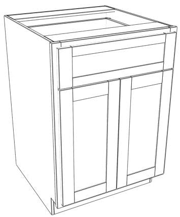 Pair Door Single Drawer Base Shaker
