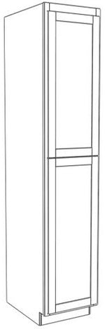 "Load image into Gallery viewer, Two Door Utility Tower 84"" High Vanity Depth Ogee"