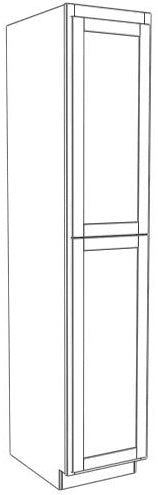 "Two Door Utility Tower 96"" High Vanity Depth Ogee"