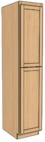 "Two Door Utility Tower 84"" High Countertop Depth Roundover"
