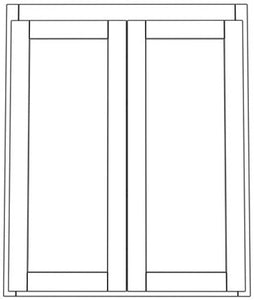 "Pair Door Wall 42"" High Shaker"