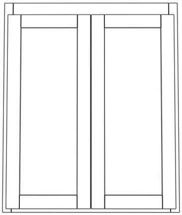 "Pair Door Wall 39"" High Roundover"