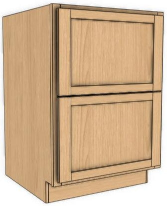 Vanity Double Drawer Base Ogee