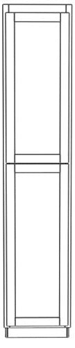 "Load image into Gallery viewer, Two Door Utility Tower 84"" High Countertop Depth Ogee"