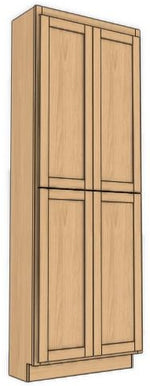 "Load image into Gallery viewer, Four Door Utility Cabinet 90"" High Vanity Depth Shaker"