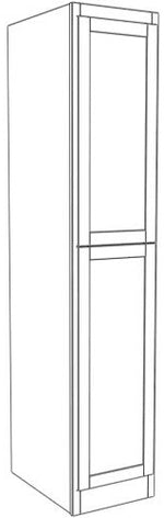 "Load image into Gallery viewer, Two Door Utility Tower 96"" High Vanity Depth Ogee"