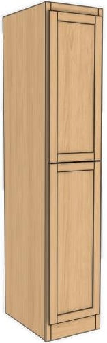 "Two Door Utility Tower 90"" High Vanity Depth Shaker"